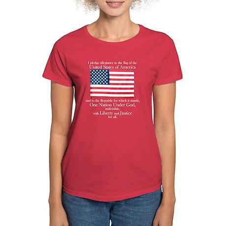 Pledge of Allegiance Women's Dark T-Shirt