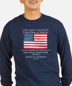 Pledge of Allegiance Long Sleeve Dark Tee