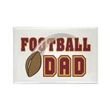 Football Dad Rectangle Magnet
