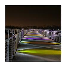 Grays Lake Colorful Bridge Tile Coaster