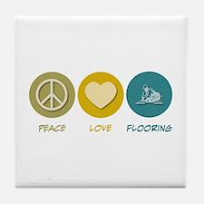 Peace Love Flooring Tile Coaster
