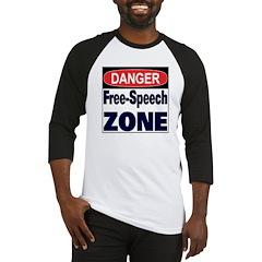 DANGER FREE SPEECH ZONE Baseball Jersey