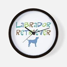 Labrador Retriever (color text) Wall Clock