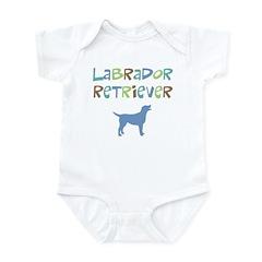 Labrador Retriever (color text) Infant Bodysuit