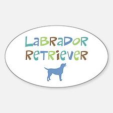 Labrador Retriever (color text) Oval Decal