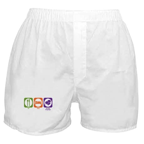 Eat Sleep Foreign Language Boxer Shorts