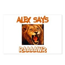 Alex Says Raaawr (Lion) Postcards (Package of 8)