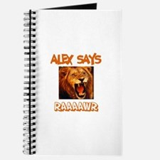 Alex Says Raaawr (Lion) Journal