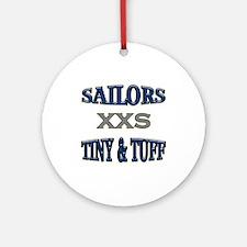 Blue Navy Tiny & Tuff Ornament (Round)