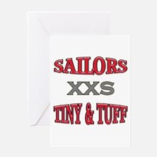 Pink Navy Tiny & Tuff Greeting Card