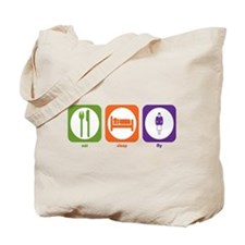 Eat Sleep Fly Tote Bag