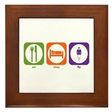 Eat Sleep Fly Framed Tile