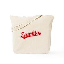 Retro Zambia (Red) Tote Bag