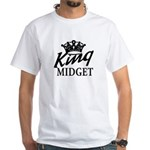 King Midget White T-Shirt