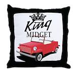 King Midget Throw Pillow