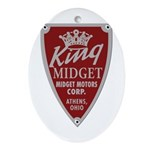 King Midget Oval Ornament