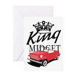 King Midget Greeting Card