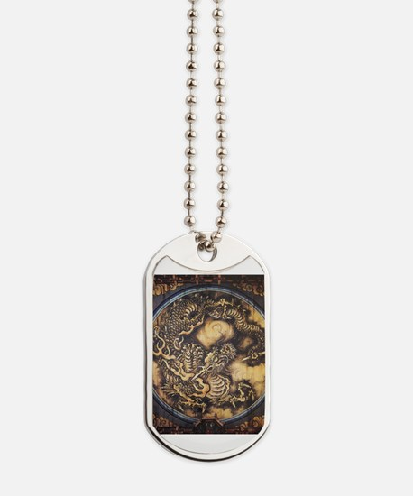 Cute Oil painting Dog Tags