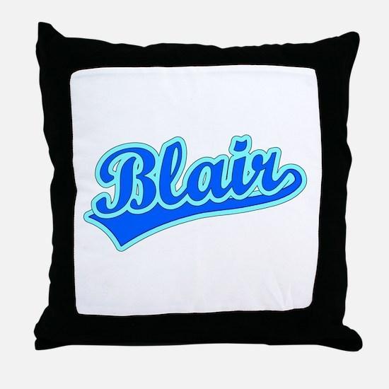 Retro Blair (Blue) Throw Pillow