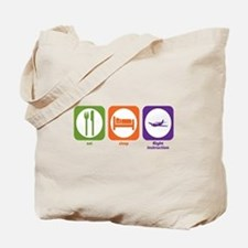 Eat Sleep Flight Instruction Tote Bag