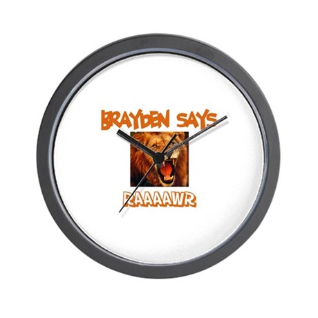 Brayden Says Raaawr (Lion) Wall Clock