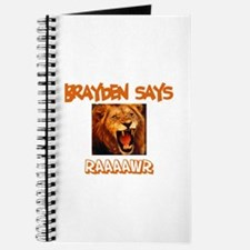 Brayden Says Raaawr (Lion) Journal