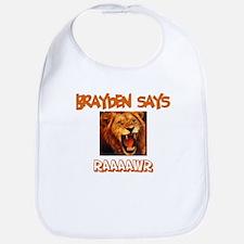 Brayden Says Raaawr (Lion) Bib