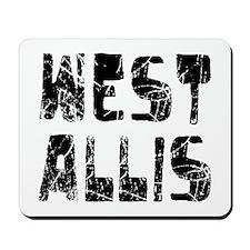 West Allis Faded (Black) Mousepad