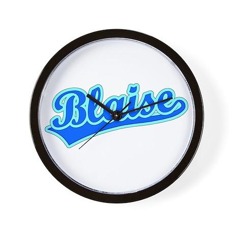 Retro Blaise (Blue) Wall Clock