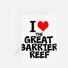 I Love The Great Barrier Reef Greeting Cards