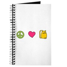 Peace Love Cats - Funny Cat Journal