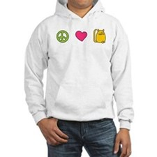 Peace Love Cats - Funny Cat Hoodie