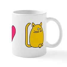 Peace Love Cats Funny Cat Mug