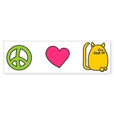Peace Love Cats - Funny Cat Bumper Bumper Sticker