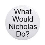 Nicholas Ornament (Round)