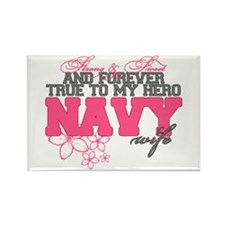 Strong&Sweet Navy Wife Rectangle Magnet