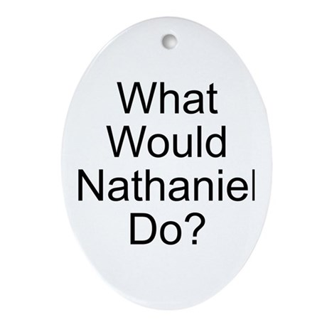 Nathaniel Oval Ornament