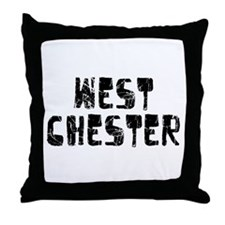 West Chester Faded (Black) Throw Pillow