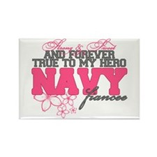 Strong&Sweet Navy Fiancee Rectangle Magnet
