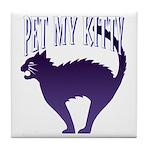 Pet My Kitty Tile Coaster
