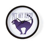 Pet My Kitty Wall Clock