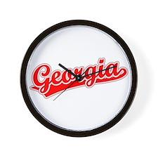 Retro Georgia (Red) Wall Clock