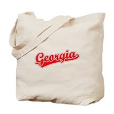 Retro Georgia (Red) Tote Bag