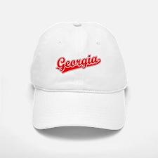 Retro Georgia (Red) Baseball Baseball Cap