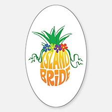 Island Bride Oval Decal