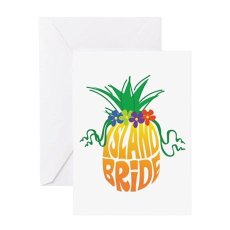 Island Bride Greeting Card