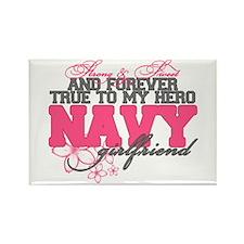 Strong&Sweet Navy Girlfriend Rectangle Magnet