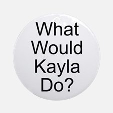 Kayla Ornament (Round)