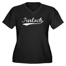 Vintage Turlock (Silver) Women's Plus Size V-Neck