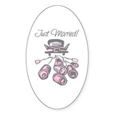 Car Just Married Oval Decal